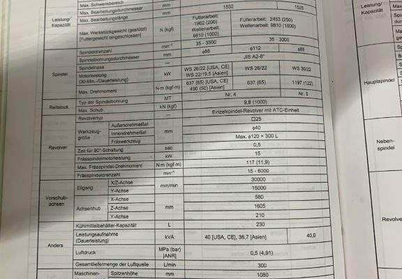 Mazak Integrex 400 Y 13 Daten